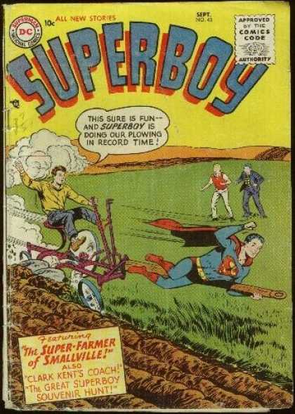 Superboy 43 - The Super Farmer - All New Stories - Spider Man - Wheels - Small Ville - Curt Swan