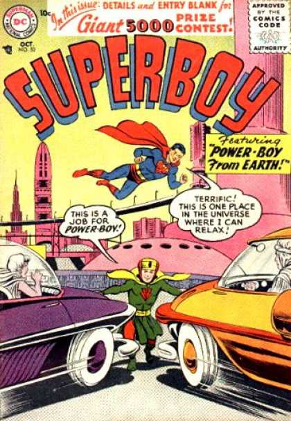 Superboy 52 - Cars - Power-boy - Future - Power Boy - Curt Swan