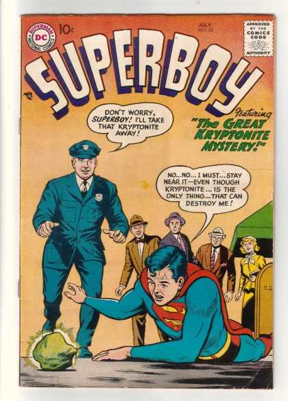 Superboy 58 - Kryptonite - Cop - Mailbox - Curt Swan, Tom Grummett