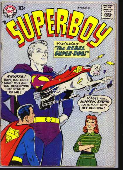 Superboy 64 - Krypto - Super-dog - Dog - Curt Swan, Tom Grummett