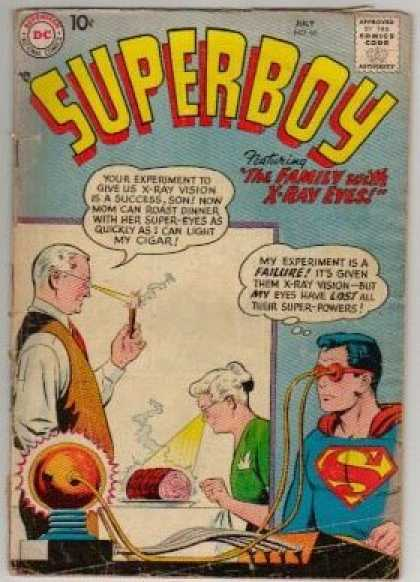 Superboy 66 - X-ray - Superpowers - Martha Kent - Jonathan Kent - Lost Powers - Curt Swan