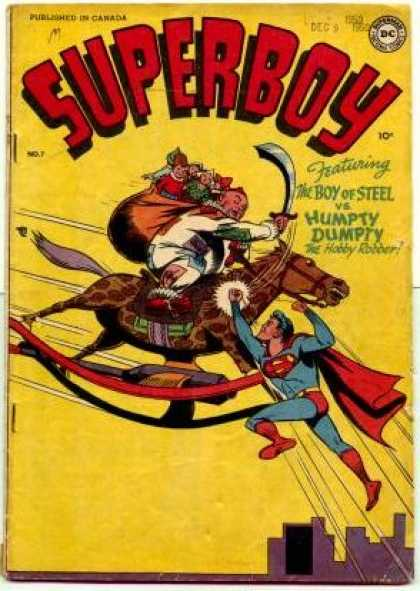 Superboy 7 - Humpty Dumpty - Rocking Horse - Canada - Superboy - Boy Of Steel - Kevin Maguire, Tom Grummett