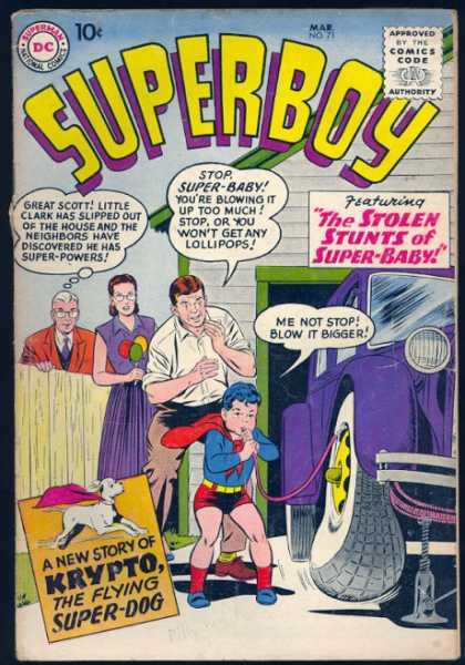 Superboy 71 - Car - Krypto - Tire - Garage - Superbaby - Curt Swan, Tom Grummett