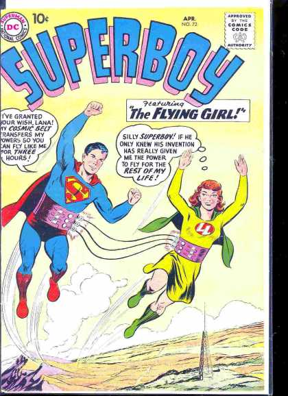 Superboy 72 - Flying Girl - Radio Tower - Curt Swan, Tom Grummett
