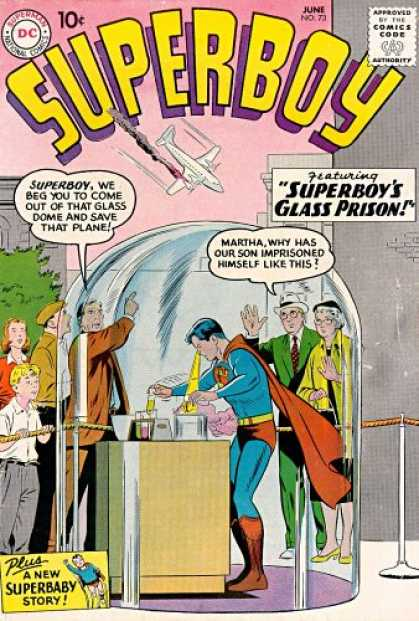 Superboy 73 - Plane - Parents - Glass - Smoke - Martha - Curt Swan, Tom Grummett