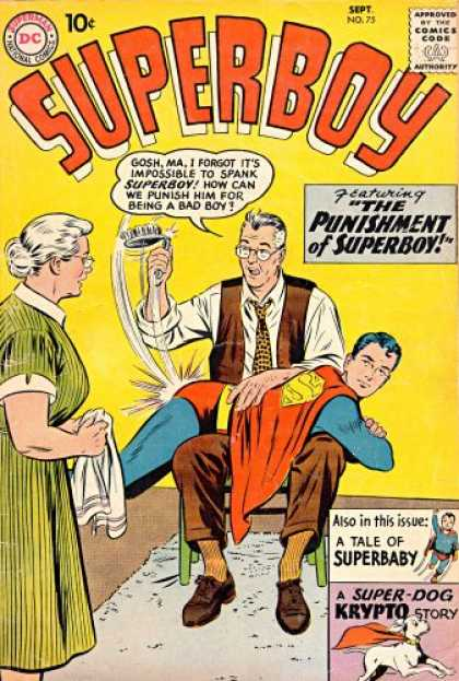 Superboy 75 - Superbaby - Krypto - Superman - Kents - Super-dog Krypto Story - Curt Swan, Tom Grummett
