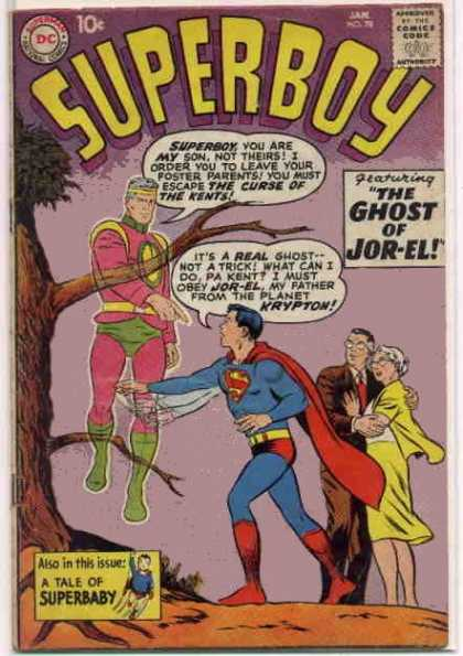 Superboy 78 - Ghost - Jor-el - Kents - Curt Swan, Tom Grummett