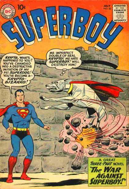 Superboy 82 - Krypto - Wall - Bizarro - Dc - Flying Dog - Curt Swan, Tom Grummett