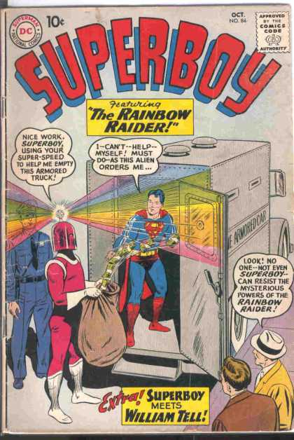 Superboy 84 - Rainbow Raider - William Tell - Money - Theft - Rainbow - Curt Swan, Pascal Ferry