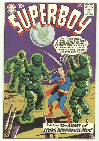 Superboy 86 - Kryptonite - Earth - Dc Comics - Creatures - The Army Of Living Kryptonite Men - Curt Swan, Pascal Ferry