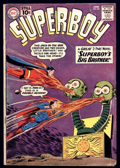 Superboy 89 - Mon-el - Box - Jack In The Box - Animation Comics - Dc - Curt Swan