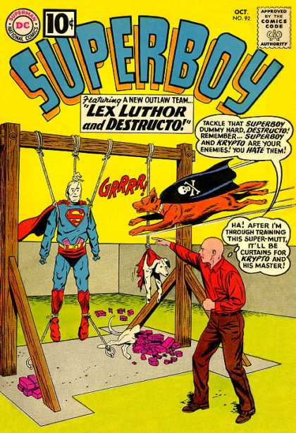 Superboy 92 - Lex Luthor - Destructo - Krypto - Dogs - Superman - Curt Swan, Pascal Ferry
