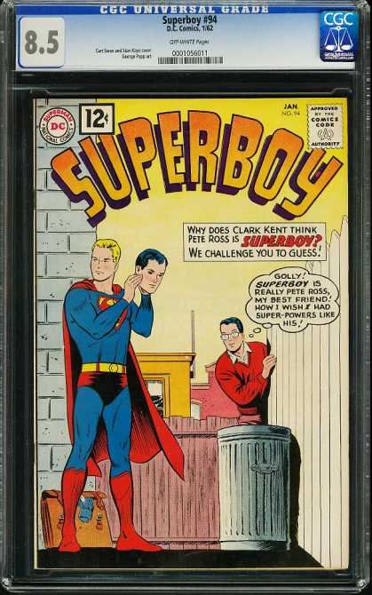 Superboy 94 - Clark Kent - Pete Ross - Mask - Blonde - Fence - Curt Swan, J Jones