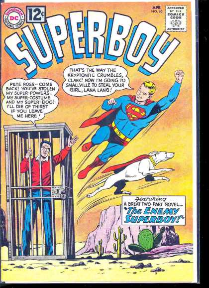 Superboy 96 - Super Powers - Imprisonment - Flying Dog - Desert - Hero - Curt Swan, John Cassaday