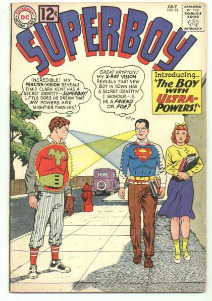 Superboy 98 - Penetra-vision - X-ray Vision - Secret Identity - Fire Hydrant - Curt Swan