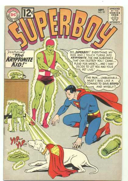 Superboy 99 - Superman - Krypto - Dog - Kryptonite Kid - Kryptonite - Curt Swan, Humberto Ramos