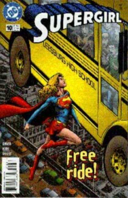 Supergirl 10 - Dc - Dc Comics - School Bus - Saving Bus - Super-girl - Phil Jimenez