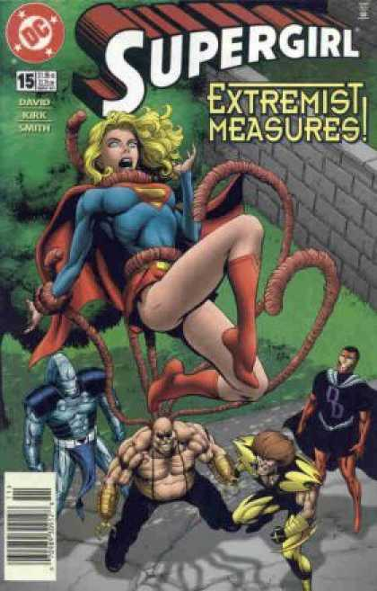 Supergirl 15 - Supergirl - Extremist Measures - Octopus Man - Brick Wall - Several Superheroes - Gary Frank