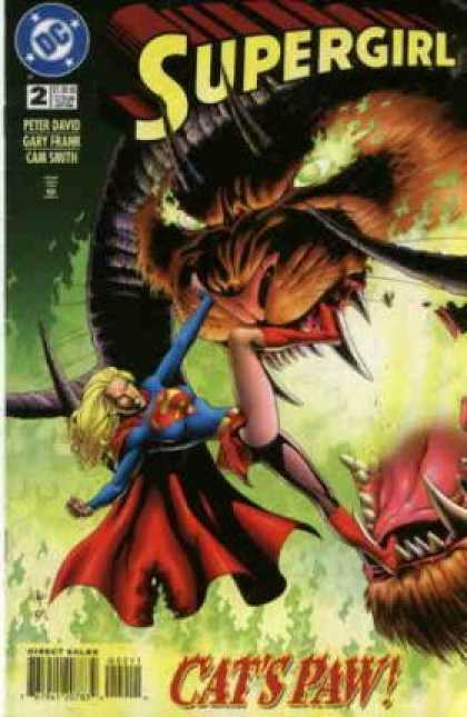Supergirl 2 - Cats Paw - Flying - Monster - Fire Eyes - Kicking - Gary Frank, Kerry Gammill