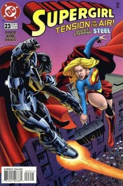 Supergirl 23 - Steel - David Kirk Riggs - 23 - Dc - Direct Sales - Leonard Kirk, Robin Riggs