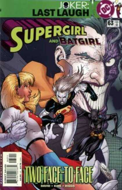Supergirl 63 - Two Face - Joker - Last Laugh - Batgirl - Riggs - Jim Lee