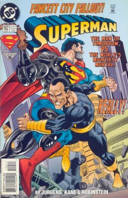 Superman (1987) 102 - Black Adam - Robot - Fawcett City Fallout - Really - Superhuman - Dan Jurgens