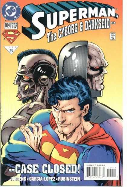 Superman (1987) 104 - Darkseid - Cyborg - Case Closed - Jurgens - Lopez - Dan Jurgens