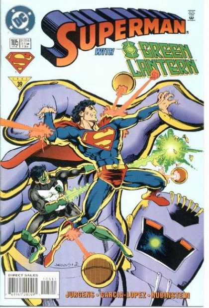 Superman (1987) 105 - Green Lantern - Super Man - Super Man And Green Lantern - Dc Comics - Garcia Lopez - Dan Jurgens
