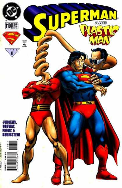 Superman (1987) 110 - Plastic Man - Man Of Steel - Superhero - Blue Man - Red Cape
