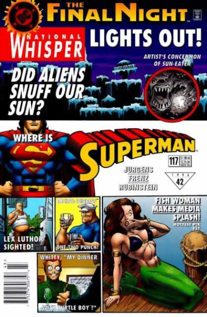 Superman (1987) 117 - Lex Luthor - Final Night - National Whisper - Media - Sun-eater - Josef Rubinstein
