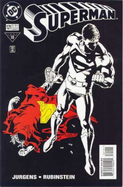 Superman (1987) 121 - Black And White - Jurgens - Rubinstein - Issue 121 - Red Outfit