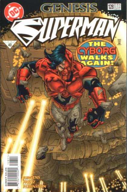 Superman (1987) 128 - Cyborg - Genesis - Dc - 128 - The Cyborg Walks