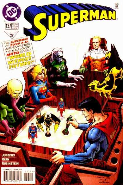 Superman (1987) 137 - Supergirl - Table - Superwoman - Wolverine - Chairs - Dan Jurgens