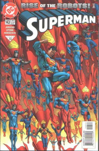 Superman (1987) 143 - Robots - Rise Of The Robots - Clones - Supermen - Flying