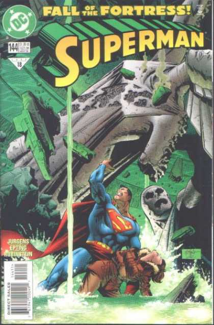 Superman (1987) 144 - Jurgens - Water - Slime - Green - Fall Of The Fortress - Steve Epting