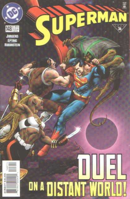 Superman (1987) 148 - Jurgens - Rubinstein - Planet - Knife - Duel - Steve Epting
