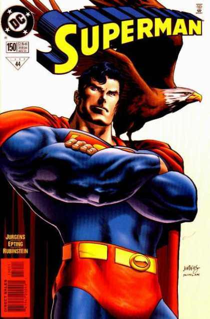 Superman (1987) 150 - Eagle - Superman 6 - Superman And The Killing Eagle - Superman Face A Tough Time - Will Superman Save The World - Dan Jurgens, Kevin Nowlan