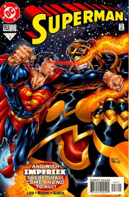 Superman (1987) 153 - Blue Man Vs Orange Monster - The Monster From Sky - Superman Fighting Space Characters - Tough Fight - Planet Iin Danger
