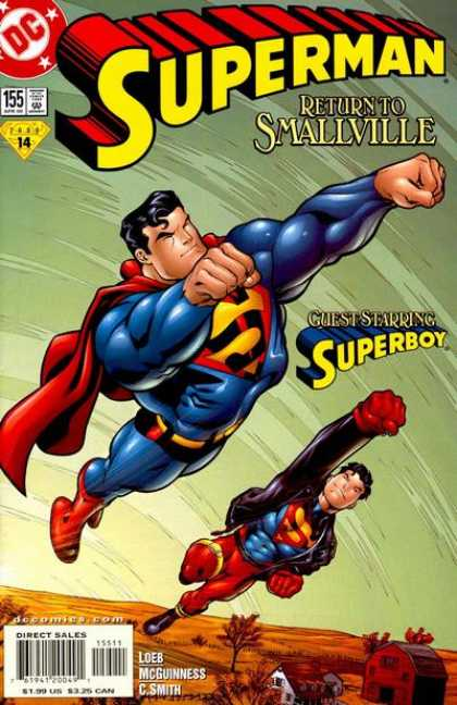 Superman (1987) 155 - Superboy - Flying - Superman - Return To Smallville - Flying Through The Air - Ed McGuinness
