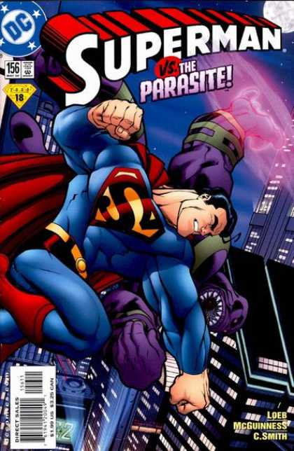 Superman (1987) 156 - Parasite - Punch - Ed McGuinness