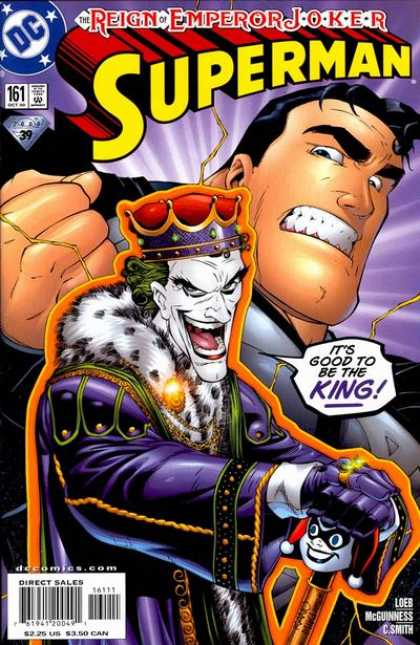 Superman (1987) 161 - Joker - Crown - King - Its Good To Be The King - Gold Ring
