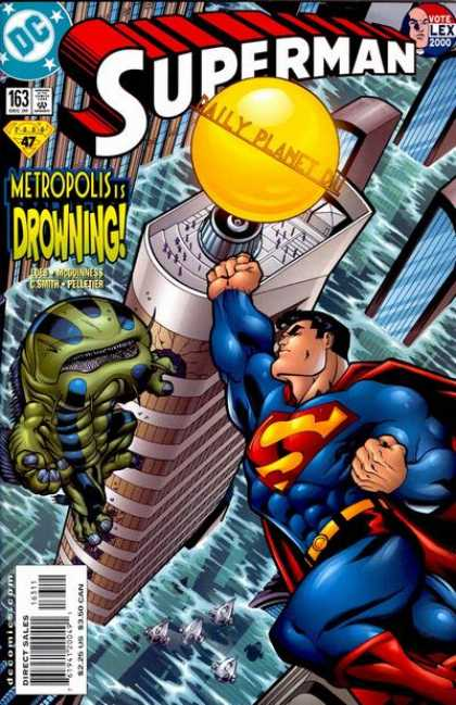 Superman (1987) 163 - Drowning - Metropolis - Daily Planet - Dc - Approved By The Comics Code Authority - Ed McGuinness