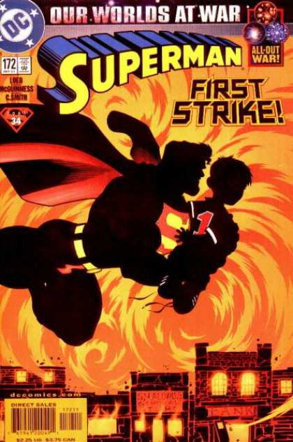 Superman (1987) 172 - Fire - First Strike - Our Worlds At War - Superhero - By - Ed McGuinness