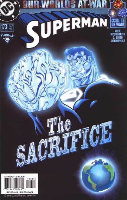 Superman (1987) 173 - Sacrifice - Blue - Fist - Earth - Black - Ed McGuinness