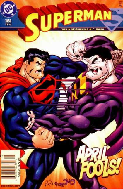 Superman (1987) 181 - April Fools - Bizarro - Fight - Loeb - Ed McGuinness