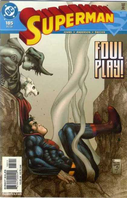 Superman (1987) 185 - Dog - Boy - Foul Play - Smoke - Crater - Pascal Ferry