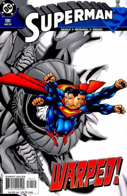 Superman (1987) 191 - Double - White - Warped - Grey