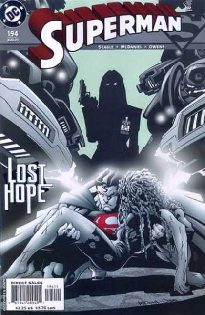 Superman (1987) 194 - Lost Hope - Gun - Evil - Mcdaniel - Wrecked