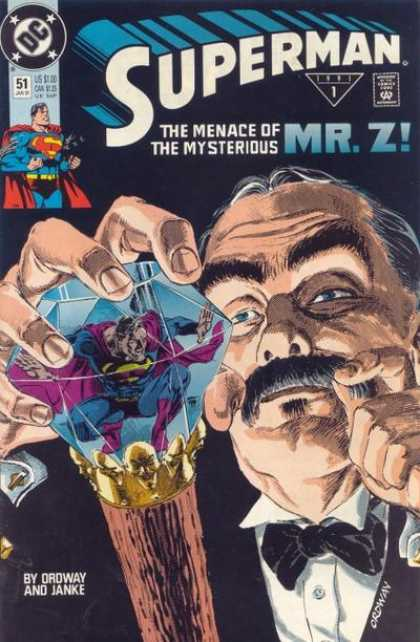 Superman (1987) 51 - Crystal - Mrz - The Menace Of Mysterious Mr Z - Superman - Moustache - Jerry Ordway