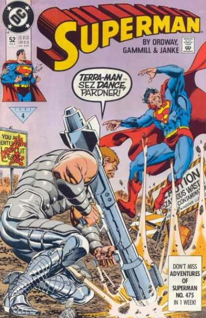 Superman (1987) 52 - Dance - Terra Man - Terra-man - Gun - Large Gun - Jerry Ordway